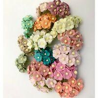 """1/2"""" or 1.5cm MIXED 15 Colors 150 Cottage Paper Flower Scrapbook (S10-MM/5)"""