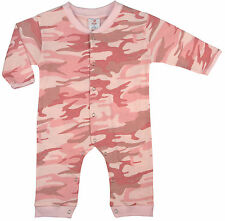 ROTHCO INFANT LONG SLEEVE ONE-PC-BABY PNK CAMO