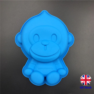 Cute Monkey Shape Silicone Cake Topper Mould - Ideal for Chocolate, Fondant, etc