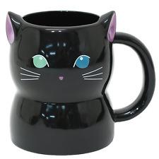 Neko Odd-eyed Cat Black Animal Ceramic Mug Cup Coffee Home Office School Gear