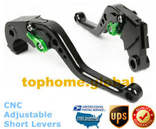 For Kawasaki ZX6R ZX636 Z1000 2007-2018 Short Clutch Brake Levers CNC Black US