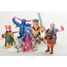 Clash of Clans COC Dolls Figures x6 : Barbarian Archer Hog Rider Witch King NEW
