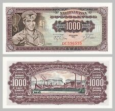 Jugoslawien / Yugoslavia 1000 Dinara 1963 p75a unz.