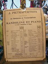 Partition J Pietrapertosa Fantaisie et Transcriptions Mandoline et Piano