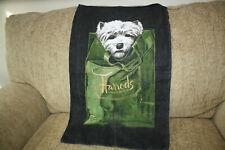 New listing Harrods Knightsbridge Irish Linen Tea Towel Westie Highland Terrier Uk 27�x17�