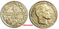 Denmark Christian IX Silver 1871 CS 4 Skilling Rigsmont aXF Condition KM# 775.2