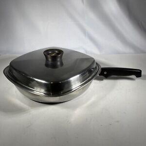 "Vintage Aristo-Craft Square 10"" Stainless Steel Pan Skillet w/Lid"