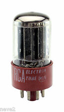 1956 RCA 5691 BLACK PLATE RED BASE 6SL7GT VACUUM TUBE 100%