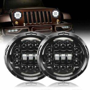 """7"""" LED Headlight Chrome for Holden Premier Kingswood Monaro HG HP HQ HX HZ"""