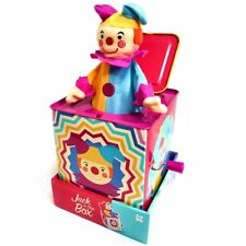Clown Jack in the Box Toy - Traditional Classic Musical Wind-up Toy - Gift idea