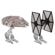 Star Wars First Order Hot Wheels 2 PK Tie Fighter VS Millennium Falcon