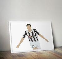 Alessandro Del Piero, Juventus, Poster, Posters, Print, Prints, Wall Art, Gift