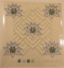 Original textile fabric wallpaper design artwork abstract flower Susan Schneider