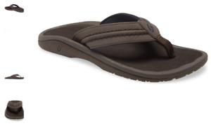 Olukai Hokua Dark Wood/Dark Wood Comfort Flip Flop Men's US sizes 7-15 NWT!!!