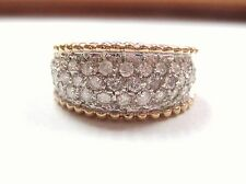 Stunning 1.25 ctw Diamond Pave Cluster Ring 14K Yellow Gold sz 5.75 ladies LQQK