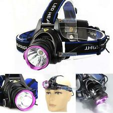 3000 Lumen X-M-L T6 LED Rechargeable Headlamp Headlight Head Torch Lamp Light TR