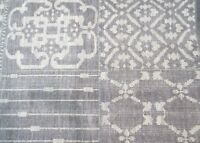 Pottery Barn Gray Nelson Patchwork 5x8 Wool Rug