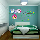 Home Removable Owl Family Tree Vinyl Wall Sticker Mural Decal Art Decor 1pc