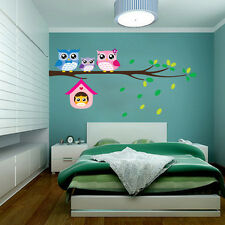 DIY Removable Owl Tree Vinyl Wall Stickers Decals Kids' Bedroom Decor Mural Art