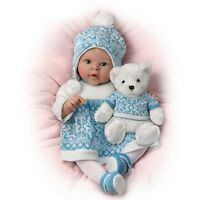 Ashton Drake Sherry Rawn Lifelike Baby Doll with Touch Activated Eskimo Kisses