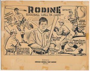 1954 Rodine Chemical Premium with Babe Ruth Lefty Grove Honus Wagner Keeler