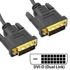 Wholesale 100x 1.8m DVI-D to DVI-D Dual Link Male Gold Plated AV Cable Lead