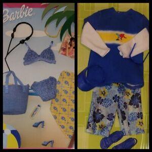 Mattel Barbie Ken: Fashion Ave Avenue Blue Beach Wear Bikini Swimsuit Shorts (2)