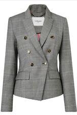 Designer LK BENNETT Neha wool jacket blazer size 18 --BRAND NEW--double breasted