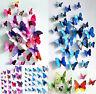 New 3D DIY 12PCS Multi-Color Butterfly Wall Sticker Home Wedding Room Art Decor