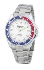 Relojes de pulsera de acero inoxidable de acero inoxidable plateado para hombre