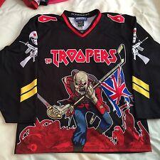 Custom Iron Maiden Eddie Hockey Jersey 66 The Beast Medium Black