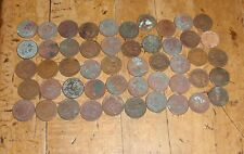 Lot of 50- Cull Indian Head Cents /Pennies (1800s-1900s) Old US Coins  1f