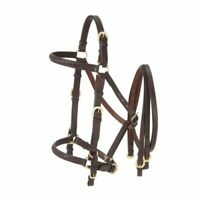 Australian Outrider Collection Aussie Leather Bridle/Halter Combination Brown