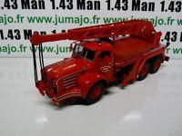 CP57 POMPIERS 1/43 altaya IXO Magirus berliet TBO 15 camion-grue 15 tonnes