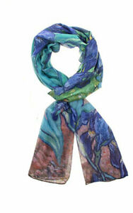 Impressionist van Gogh Irises Scarf