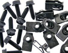 Body Bolts & U-nut Clips- M6-1.0 x 20mm Long- 10mm Hex- 40 pcs (20ea)- LD#134F