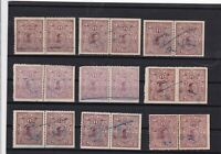 jhalawar state revenue stamps pairs ref 12673