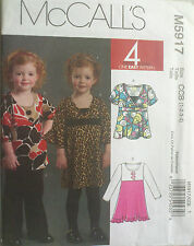 UNCUT SEWING PATTERN MCCALL'S 5917 SIZE 1 2 3 4 DRESS PANTS HEADBAND PULLOVER
