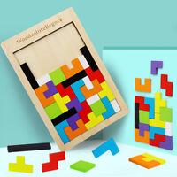 Holzpuzzle Tetris Spielzeug Geometrie Lernspiel Formspiel Geburtstag Geschenk