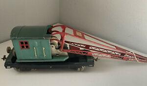 Lionel No. 219 Standard Gauge Crane - Peacock/Red