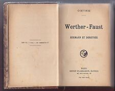 Libro Fausto y Werther. Francés. Werther - Faust. Goethe.