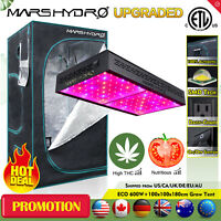 "ECO 600W Led Grow Light Veg Flower Plant Lamp+39""×39""×70"" Indoor Grow Tent Kit"