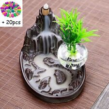 Waterfall Porcelain Mountain Backflow Ceramic Incense Burner Holder Cones Holder