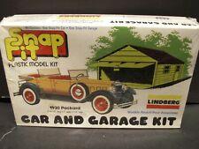 Lindberg Mini Lindy Model 2 kits in One 1930 Packard & 1960s Garage plastic Kit