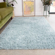 Duck Egg Blue Shaggy Rug 4.5cm Thick Anti Shed Soft Living Room Shaggy Area Rugs