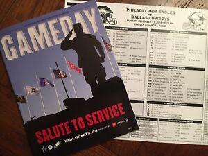 PHILADELPHIA EAGLES Gameday Magazine + Media Card 11.11.18 Vs Dallas Cowboys