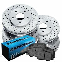 Brake Rotors [Front+Rear Kit] POWERSPORT *DRILLED ONLY* + CERAMIC PADS BX17932