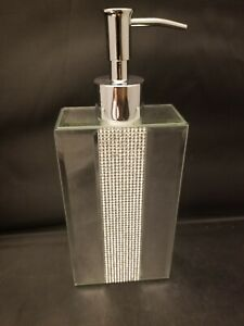 Bella Lux Rhinestone Mirror Luxury Bath Pump Soap Dispenser Bathroom Accessory