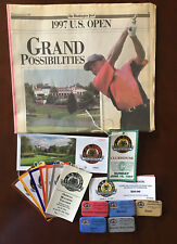 1997 US Open Golf Championship Collection Tickets Pins Badges etc.