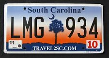 "SOUTH CAROLINA "" TRAVEL - PALM TREE - LMG 934 ""  SC Graphic License Plate"